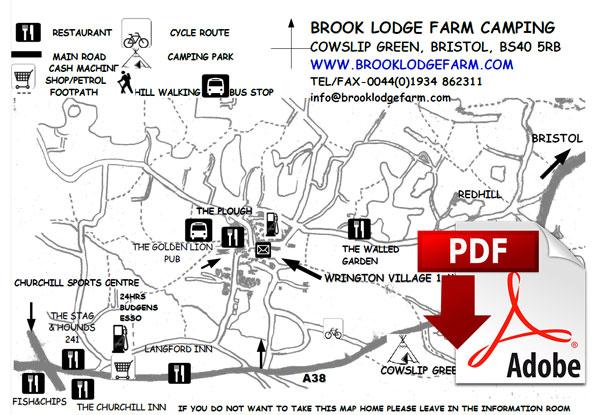 Brook Lodge Farm Map